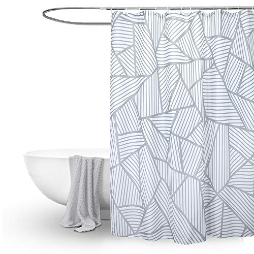 EurCross Silver Grey Shower Curtain,Weighted Mouldproof and Waterproof...