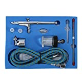 FTVOGUE Airbrush Gun Dual Action Airbrush Kit 0.2mm/0.3mm/0.5mm Needle Spray Gun Paint Art Airbrush Materials Tattoo Manicure Cakes Craft Model