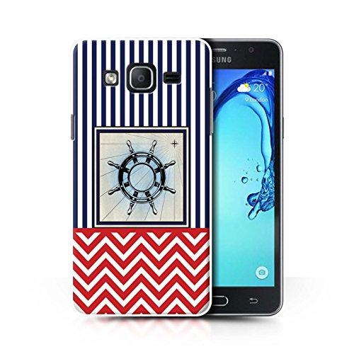 Stuff4 Hülle/Hülle für Samsung Galaxy On5/G550 / Piratenschiff Rad Muster/Nautisch Marine Chevron Kollektion