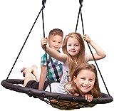 Sorbus Spinner Swing – Kids Indoor/Outdoor Round Web Swing – Great for Tree, Swing...