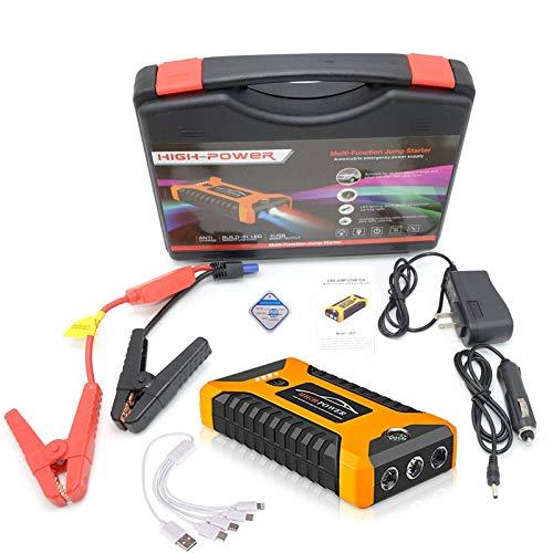 Car Jump Starter Power Bank, 20000mAh Smart Digital Portable Car Jump Starter Kit de Emergencia Batería para Gasolina de 6.0L y Motor diésel de 5.0L,Yellow-1