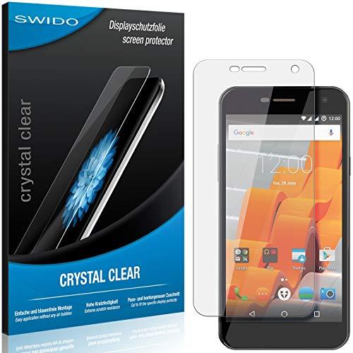 SWIDO Bildschirmschutzfolie für Wileyfox Spark [3 Stück] Kristall-Klar, Extrem Kratzfest, Schutz vor Öl, Staub & Kratzer/Folie, Glasfolie, Bildschirmschutz, Schutzfolie, Panzerfolie