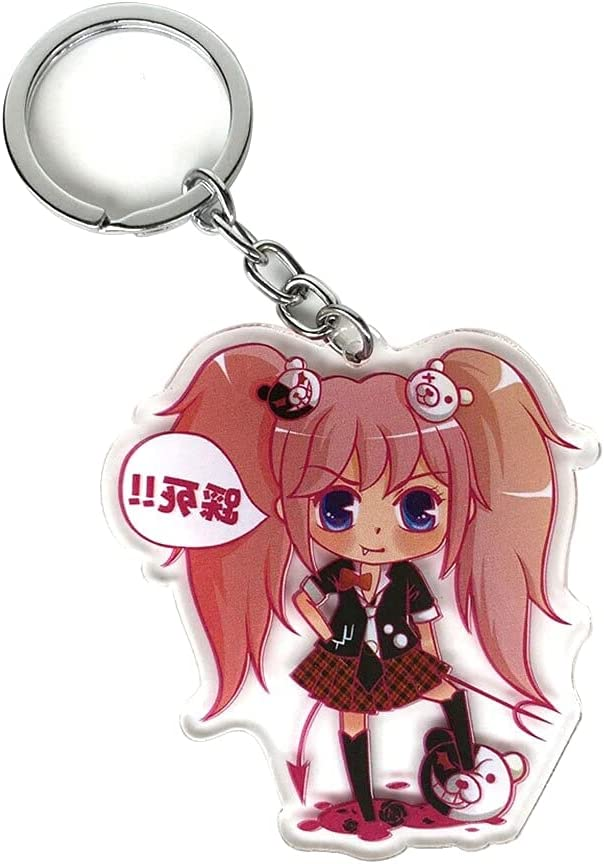 Danganronpa Keychain Junko Enoshima Happy Max 63% OFF [Alternative dealer] Acrylic Japanese Havoc