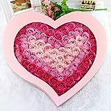 DWQuee Rose Geschenkbox , Valentinstag 99 Blumen Seife Blumen Geschenk Rose Box Bad Seife Bouquet...