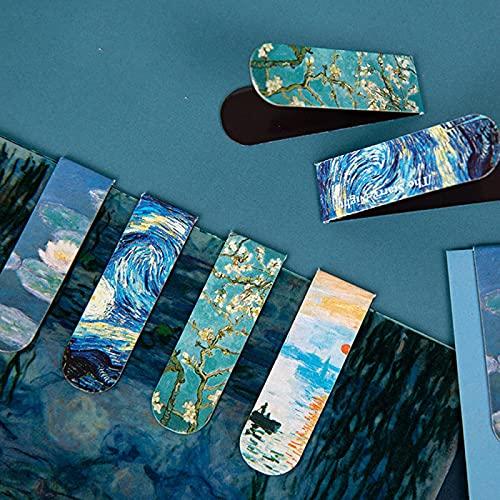 4Pcs Segnalibri magnetici creativi Van Gogh Letteratura Serie d'arte Decorazione fai da te Libri Pagina di clip Articoli di cancelleria per studenti