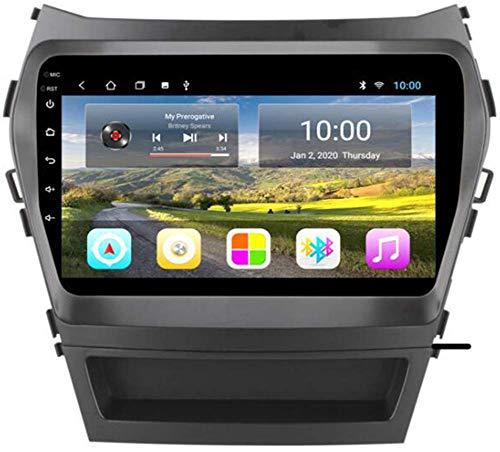 LL-SUNGIRL FOR Hyundai Santa FE IX45 2013-2017 Android Individual DIN Radio GPS, Radio de Pantalla táctil de 9 Pulgadas Radio Bluetooth FM Radio WiFi Navegación Enlace de Espejo