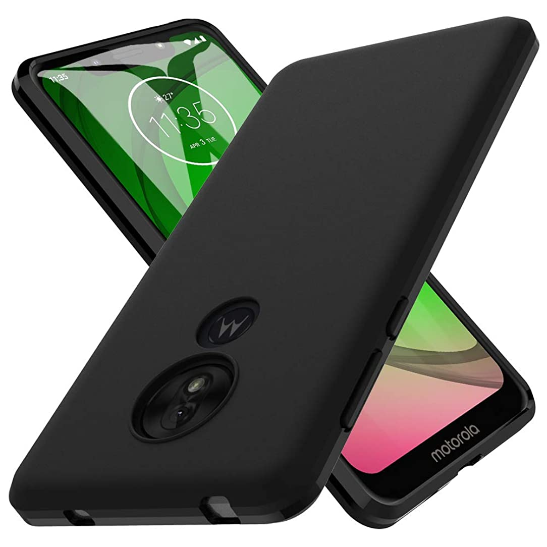 LK Case for Molorola Moto G7 Play, Ultra [Slim Thin] Scratch Resistant TPU Rubber Soft Skin Silicone Protective Case Cover for Moto G7 Play(Matte Black)