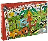 DJECO - 82889 - Puzzle Observation - Jungle - 35 Pièces