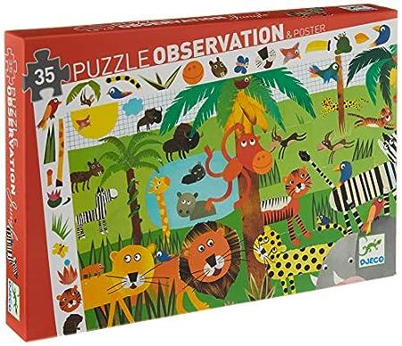 Djeco 82889 Beobachtungspuzzles, gemischt