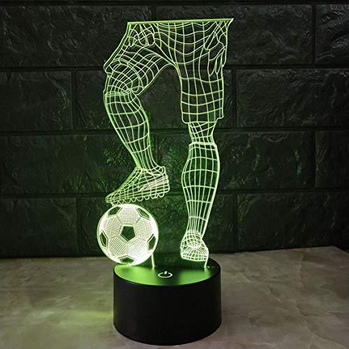 Magie 3D Fußball Touch Tischlampe 7 Farben Schreibtischlampe USB Powered Night Lampe Fußball LED Licht Schlafzimmer Dekoration