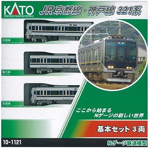 321 -based three-car basic set N gauge 10-1121 JR Kyoto Line and Kobe line by CATO