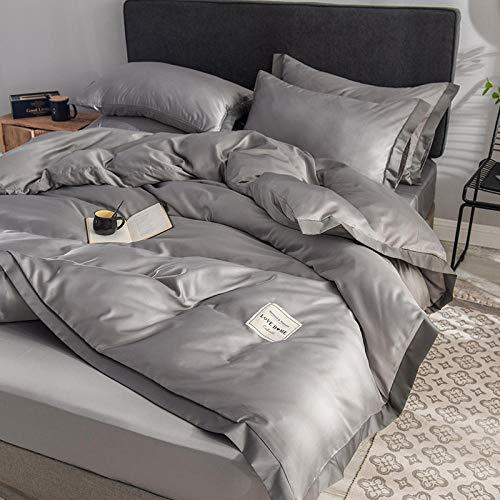 juegos de sábanas de 90 de oferta,Seda del norte de la seda de cuatro piezas de seda de cuatro piezas de seda de cuatro piezas de seda puede revertir el regalo de la cubierta de la sábana anti-alergi