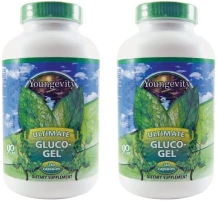 2 Bottles Ultimate Gluco-Gel 240 Each Youngevity Glucos Capsules Special price Ranking TOP9