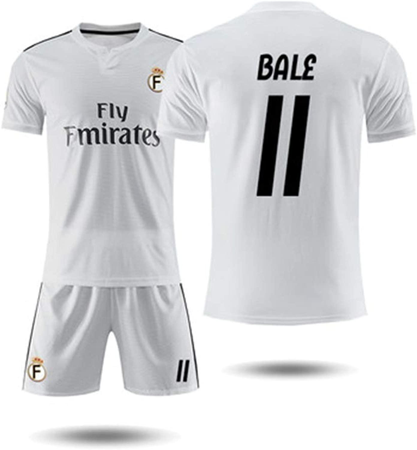 YAXIAO Short-Sleeved T-Shirt Shorts Real Madrid 18-19 Home Jersey 10th Modric Magic Flute Football Training Jersey T-Shirt (color   D, Size   M)