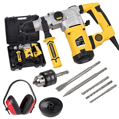 SDS-Plus Bohrhammer 1600 Watt Stemmhammer Meißelhammer im Koffer + Gehörschutz