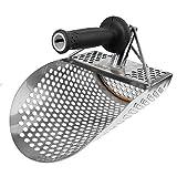 Pala de Arena para detección de Metal, Detector de Metales de Acero Inoxidable, Pala de Arena submarina para Playa con Mango de Metal Herramienta de detección de sifting rápido Detector de Metal
