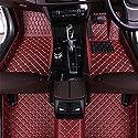 Leder Auto FußMatten Set FüR Mitsubishi Eclipse Cross 2018 2019(RHD), All-Inclusive Autoteppiche Fussmatten Vorn Hinten Bodenmatten Wasserdichter Antirutsch Nach Maß Allwetter Auto Teppich
