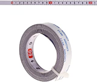 Acnana Miter Saw Track Tape Measure Self Adhesive Backing Metric Steel Ruler 1/2/3/5M (Z-3m)