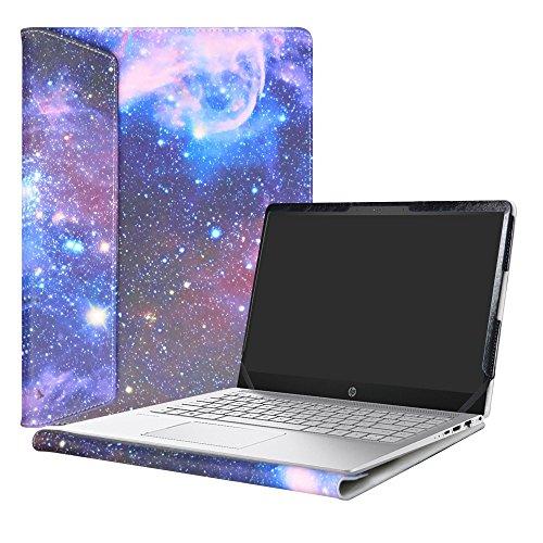 Alapmk Diseñado Especialmente La Funda Protectora de Cuero de PU Para 14' HP Pavilion Pro 14 14-bfXXX 14-ceXXX/Pavilion x360 14 14-cdXXX Sereis Ordenador portátil,Galaxy