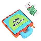 Livre en tissu doux pour bébé, Little Bear livres souples en trois dimensions jouet cognitif précoce pour nourrissons garçons et filles jouets éducatifs précoces cadeau de douche de bébé