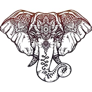 Doors Hoods StickAny Car and Auto Decal Series Elephant Front Large Sticker for Windows Red