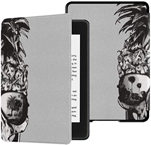 All-new Kindle Paperwhite Water-safe Fabric Cover(10th Generation, 2018 Release), Pine Skull Illustration Tee Shirt Graphics Tablet Case