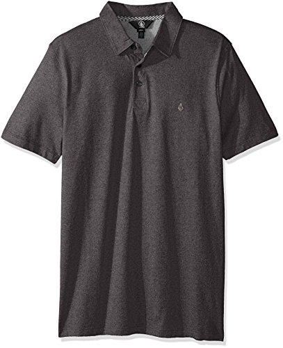 Volcom Wowzer Polo Homme, Stealth, FR : L (Taille Fabricant : L)