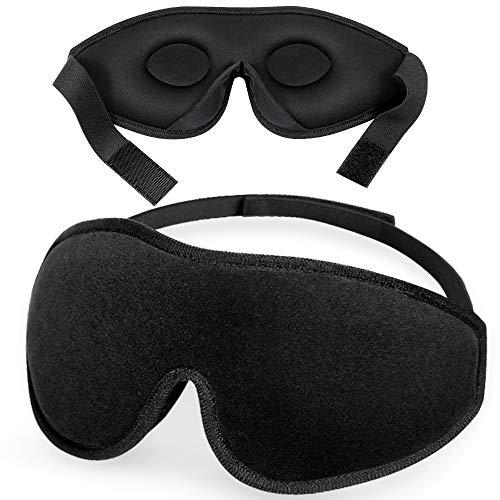 Antifaz para Dormir, Peakally Máscara Dormir de Seda 3D Ajustable 100% Anti-Luz Antifaz Suave para Ojos,Noches,Viajar
