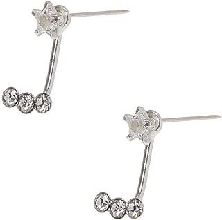 Aura by TJM Sterling Silver Round Top Sky Blue Topaz /& Marcasite Earrings