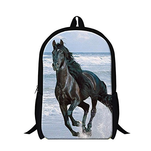 GIVE ME BAG Generic Horse Print Fashion Adults Backpack for Travel Students Bookbags