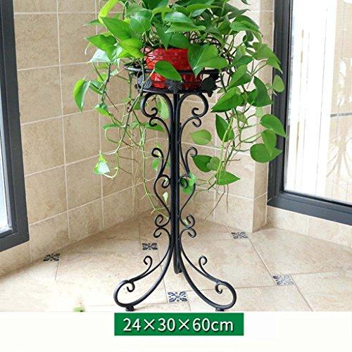 FZN Stand de Fleurs Balcon de Plain-Pied en Fer forgé Salon de Style européen intérieur assemblé des Pots de Fleurs d'araignée Pots de Fleurs (Taille : 30 * 60cm)