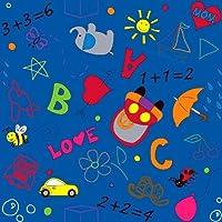 Kid Carpet FE739-26Y Playtime Doodle Nylon Area Rug 6' x 6' Multicolored [並行輸入品]