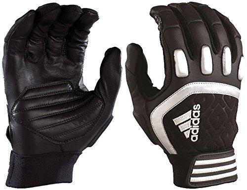 adidas Adult Scorch Destroy Football Lineman Gloves - Black-XL