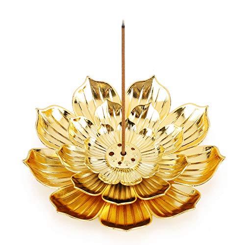Accmor Zinc Alloy Incense Holder, Lotus Stick Incense Burner, Incense Holder for Stick/Coil/Cone...