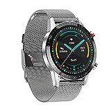 InnJoo Reloj Inteligente Smartwatch Hombre IJ-Men Watch Atom-Silver (Acero Plateado)