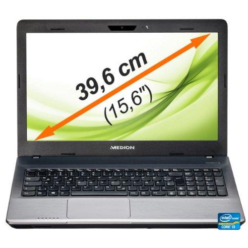 Medion Akoya E6232 39,6 cm (15,6 Zoll) Laptop (Intel Core i3 3110M, 2,4GHz, 4GB RAM, 1000GB HDD, DVD, Win 8) silber