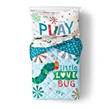 The Very Hungry Caterpillar 4 Piece Toddler Bed Set – Super Soft Microfiber Bed Set Includes Toddler Size Comforter & Sheet Set (Official Eric Carle Product)