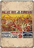 Wallace Bros Circus New Britain ティンサイン ポスター ン サイン プレート ブリキ看板 ホーム バーために