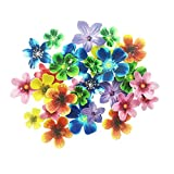 100 piezas comestibles flores hermosas decoraciones para cupcakes para decoración de tartas y galletas.