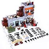 12che Militär Minifigur Set WW2 Minifiguren Militärgebäude Kit Waffe Zubehör für Lego minifiguren
