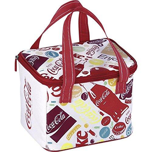 EZetil Kühltasche Coca-Cola Fun, Isoliertasche für die kühle Lagernung von Lebensmitteln und Getränken beim Camping und Picknick, auf Reisen oder beim Einkauf, 5 Liter