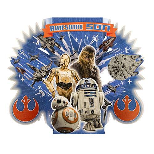 Hallmark Geburtstagskarte für Sohn zum Geburtstag von Hallmark – Star Wars Super Karte 'Good Guy' Design