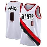 Jersey de Hombre Damian Lillard Portland Trail Blazers # 0 Jersey de Malla de Baloncesto Juvenil, Ropa Deportiva de Secado rápido sin Mangas Camiseta de Baloncesto Swingman Jersey (Blanco, XXL(54))