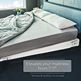 Avana Mattress Elevator with Cotton Cover - Under Bed 7-Inch Incline Foam Lift, Multiple Colors, King Size