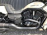 Muscle Black - Juego de bolsillos laterales para Harley Davidson VROD V-Rod de piel, color negro