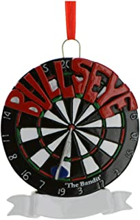 Personalized Bullseye Dart-Board Christmas Tree Ornament 2019 - Traditional Pub Game Competitor Throwing Missile Profession Sport Play Rule Hobby Friend Plan Party Bar Love - Free Customization