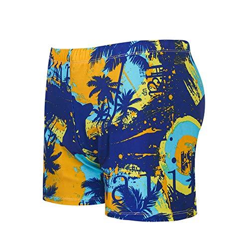 SAILORMJY Heren Shorts Zwemmen Trunks Wim, Board Shorts Mannen, Zwemmen Trunks Platte Hoek afdrukken Grote Maat Hot Spring Beach Broek Mode Heren Zwemkleding XXXXL H