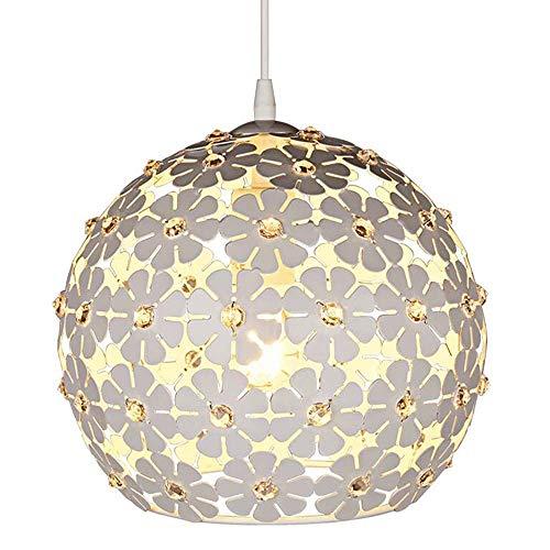 WJSWA Moderno LED Personalidad Amor Corazón Lámpara de Techo acrílica Nórdica Sala de Estar Creativa Dormitorio Comedor Lámpara de araña de múltiples Cabezas Iluminación sobre la Mesa