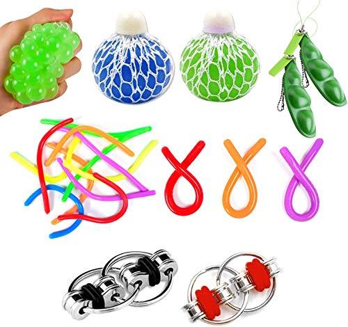 Funmo Juguetes Antiestres, Juguetes Sensoriales 9 Piezas, Juguetes Antiestres Kit, Juguetes Para Niños Adultos, Juguetes Terapéuticos Para Eliminar El Autismo Y La Ansiedad