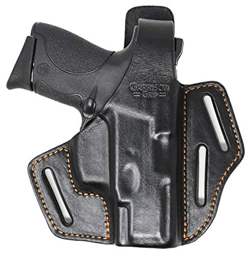Garrison Grip Italian Leather 2 Position Holster Fits Smith & Wesson M&P 9 Shield (BLK)